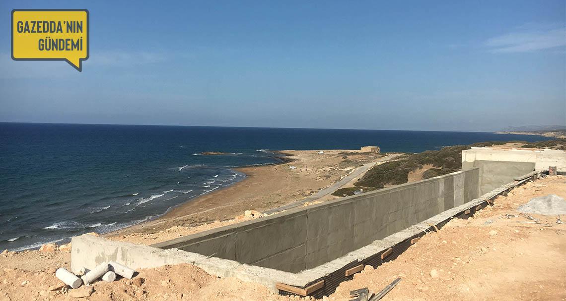 Çevre koruma bölgesindeki izinsiz havuzlu villa inşaatından fotoğraflar
